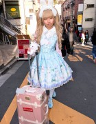Angelic Pretty Sweet Lolita w/ Bunny Ears & Liz Lisa Lucky Bag in Harajuku