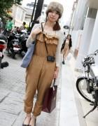 Cute Fur Hat & Jumper Girl in Harajuku