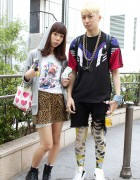 Dr. Slump & Leopard Girl vs. Adidas & Leggings Guy