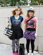 Candy Stripper & Mickey Mouse Fans in Harajuku