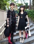 Tokyo Bopper & Jane Marple Street Style in Harajuku