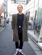 Dancer in Converse All Stars & Resale Overcoat