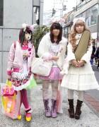Harajuku Girls w/ Animal Ears, Bows & Lots of Pink