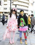 Angelic Pretty Sweet Lolita Style x Ghostbusters, ManiaQ Skirt & RobotLuv Sneakers in Harajuku