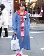 Sailor Top & Denim Coat from Kinji & The Virgin Mary