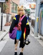 Harajuku Resale Fashion, Doll Necklace & Soccer Ball Purse