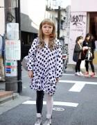 Yoponskii, Chanel & Nadia Cherry Earrings in Harajuku