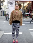 Graphic Pants & Plush Chubby Jacket