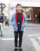 Phenomenon Pleats Tuxedo & Roc Star in Harajuku
