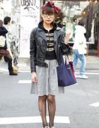 Japanese Girl in Glasses, Torn Stockings & H>Fractal