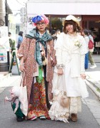 "Japanese Girls in Handmade Multi-Layered Fashion w/ ""Death"" Doll in Harajuku"
