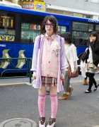 Japanese School Uniform x Fairy Kei Style Mix in Harajuku