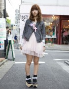 Rocking Horse Shoes, Pink TutuHA Cross & SPANK! in Harajuku