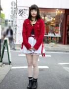 Jeffrey Campbell Boots & Ribboned Sweater in Harajuku