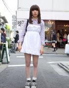 Harajuku Resale Style w/ Furry Purse & Converse Sneakers