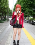 Orange-Haired Girl's Murua Fashion & Tassel Necklace in Shinjuku