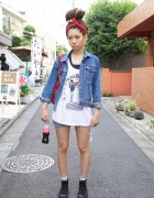 Japanese Girl's Dreadlocks, Muay Thai Top & Chupa Chups Lollipops