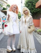Dolly Girls in Cotton & Lace w/ Rocking Horse Shoes