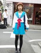 Haruhi Suzumiya School Uniform Cosplay Girl in Harajuku