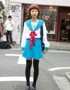 Haruhi Suzumiya School Uniform Cosplay Girl in Harajuku