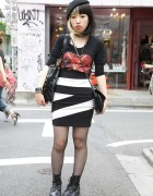 Cruella Deville Hair, Beret & Tight ANAP Skirt