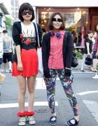 Japanese Girls w/ Fun Sunglasses in Harajuku