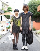 Geometric Print Dress vs. Drawstring Top & Leggings in Harajuku