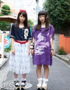 Harajuku Girls w/ Sailor Uniform Top, Rocking Horse Shoes & Animal Backpacks
