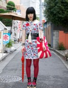 Japanese Girl's Rising Sun Purse & Chicago Resale Dress