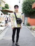Harajuku Guy w/ Swagger x Porter Bag, Phenomenon Skinny Jeans & Creepers