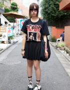 Rocker Girl's AC/DC T-Shirt & Malaika Sequined Bag