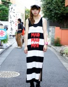 Harajuku Girl's Mad Mad Mad Dress, Stussy Cap & Nadia Sneakers