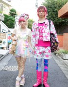 Kumamiki & Junnyan's Super-Colorful Harajuku Street Style + Pink Hair