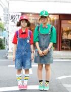 Super Fun Japanese Mario Bros. Girls in Harajuku