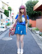 Pink-Purple Haired Harajuku Girl's Keisuke Kanda Top & Rocking Horse Shoes