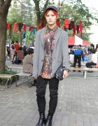 Stylish Student From Seoul Wearing Radd Lounge, Dog Harajuku & NaNa-NaNa