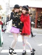 Riii & Maho in Harajuku w/ Cute Hats, Tulle Skirt, & Platform Shoes [+ Video]