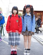 Eyeball Hair Bows, Leopard Skirt, Creepers & Platform Converse in Harajuku