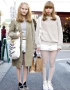 Harajuku Girls in Milkfed, American Apparel, H&M and Converse