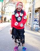 Maro Broken Doll in Harajuku w/ CD Hoodie & Shredded Bag