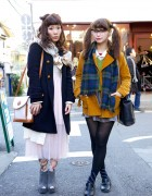 Akari and Sakura Wearing Vintage & Resale Fashion in Harajuku