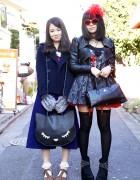 Thigh Highs & Glad News Leather Jacket vs. Beam Sandals & W Closet Pea Coat