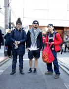 Ura-Hara Streetwear Style Trio w/ Revolver x Phenomenon Backpack, Bounty Hunter, Supreme, Neighborhood, Alife, HUF, APC & more.