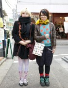 Vivienne Westwood Coat vs. Resale Polka Dot Top & Bloomers