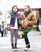 Harajuku Girls w/ Braids & Rocking Horse Shoes