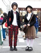 Tartan Plaid Pants & Angora Beret vs. Animal Print Chiffon Skirt & Derby