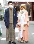 Pink Kimono & Fox Stole vs. Leopard Pajamas & Hoodie