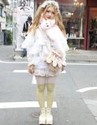 Minami (373) in Harajuku w/ Cute Spank Muffler & Ballet Slipper Purse
