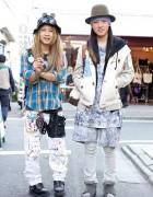 Harajuku Guys in Cosmic Wonder, Hiro & Vintage Flannel