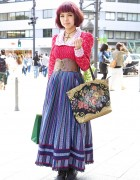 Spinns Staffer Seira's Maxi Skirt & Leather Corset